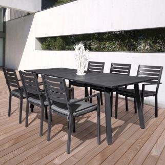 Salon de jardin aluminium table