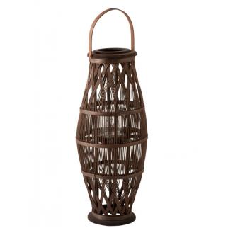 Lanterne haute en bambou