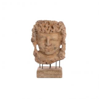 Sculpture masque bouddha