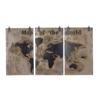 Triptyque carte du monde