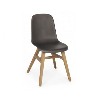 Chaise scandinave gris foncé