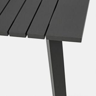 Table extérieur aluminium, grande table de jardin gris anthracite