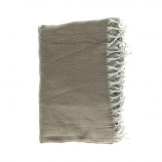 Plaid à franges coton 130x170cm