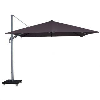 parasol déporté inclinable gris