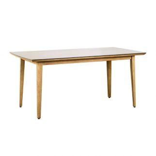 Table à manger, petit table de jardin, table bois eucalyptus scandinave