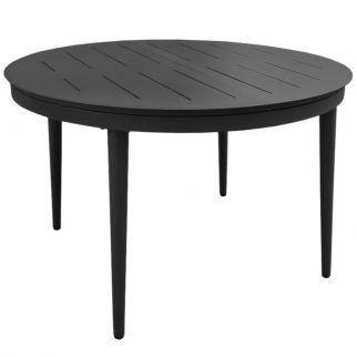 Table ronde extérieur extensible, table de jardin ronde avec rallonge alu
