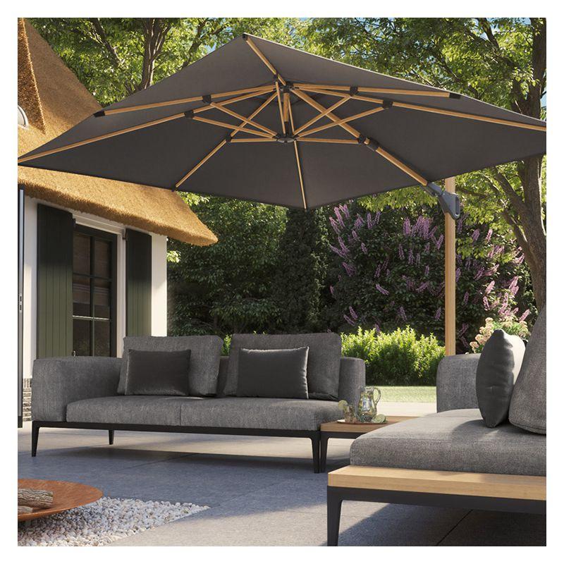 parasol déporté 3x3 bois
