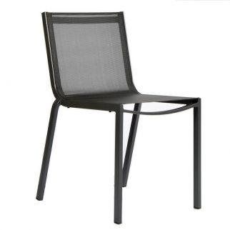 Chaise de jardin aluminium, chaise exterieur empilable, chaise alu jardin