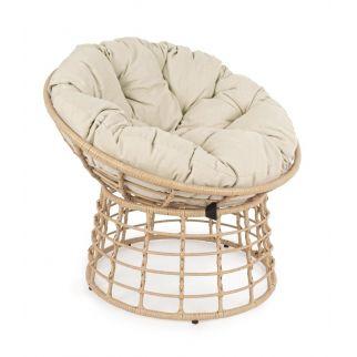 Fauteuil Nelly bas de jardin, fauteuil rond exterieur, fauteuil detente