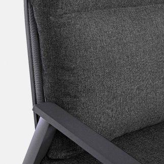 Canapé de jardin, canapé extérieur aluminium inclinable gris anthracite