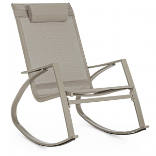 rocking chair jardin taupe
